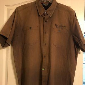 Men's Harley Davidson Shirt XL s/s button down